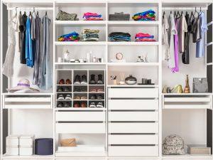 Organiserad garderod